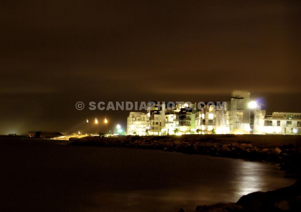 Natt vid Västra Hamnen